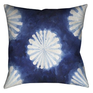 Laural Home Indigo Tie Dye III Decorative 18-inch Pillow