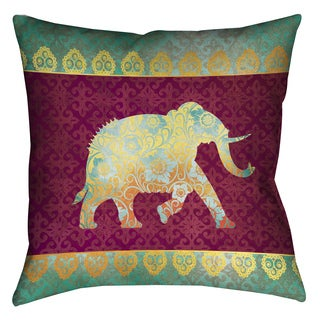 Laural Home Moroccan Elephants Decorative 18-inch Pillow