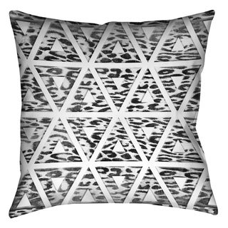 Laural Home Geometric Leopard Pattern Decorative 18-inch Pillow
