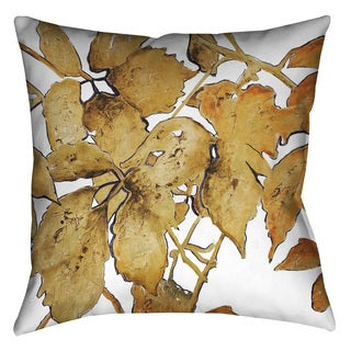 Laural Home Golden Leaves Decorative 18-inch Pillow