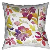 Laural Home Floral Chic Decorative 18-inch Pillow