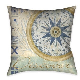 Laural Home Nautical Journey IV Decorative 18-inch Pillow