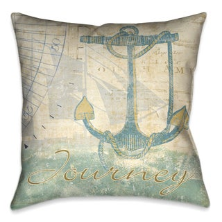 Laural Home Nautical Journey III Decorative 18-inch Pillow