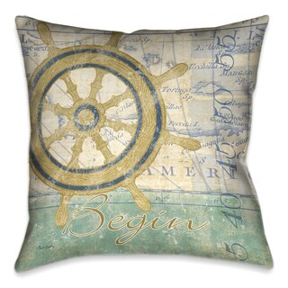 Laural Home Nautical Journey II Decorative 18-inch Pillow