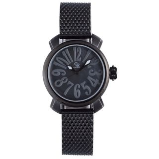 Giulio Romano Women's GR-7000-13-007 Rimini Black Mother-Of-Pearl Dial Black Ion-Plated Watch