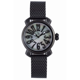Giulio Romano Women's GR-7000-13-001 Rimini Mother-Of-Pearl Dial Black Ion-Plated Watch