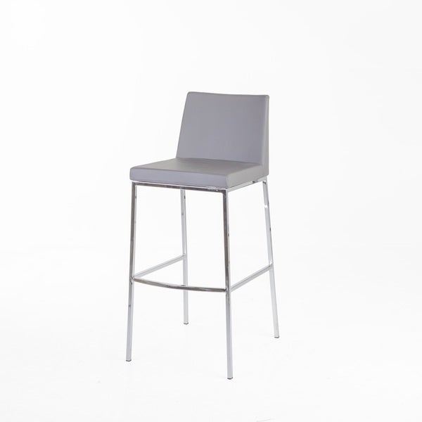 Shop Hans Andersen Calder Grey Leatherette Bar Stool