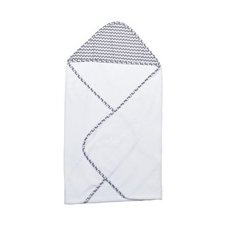 Trend Lab Perfectly Navy Chevron Baby Hooded Towel