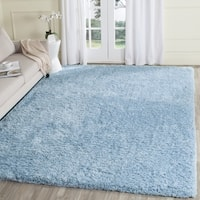 Safavieh Supreme Shag Light Blue Polyester Rug (3' x 5')