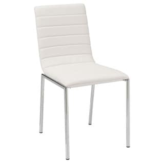 Top Quality White PU Upholstered Dining Chair (Set of 4)