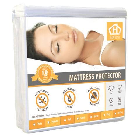 Waterproof Hypoallergenic Premium Mattress Protector - White