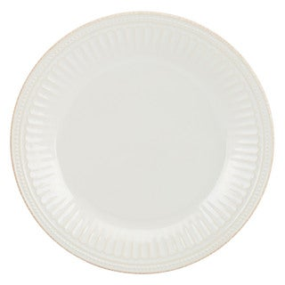 Lenox French Perle Groove White Dinner Plate (As Is Item)