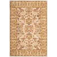 Safavieh Hand-hooked Total Perform Ivory/ Gold Acrylic Rug - 4' x 6'