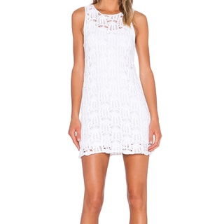 Minkpink Breakfree White Crochet Tank Dress