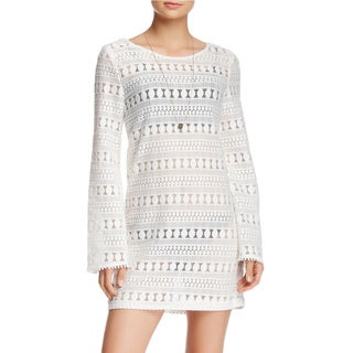 Minkpink Monte Carlo White Bell Sleeve Cover-Up