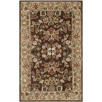 Safavieh Hand-hooked Total Perform Brown/ Green Acrylic Rug (3' x 5')