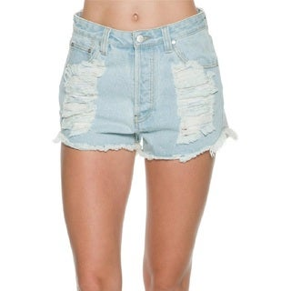 Minkpink Breakthrough Distressed Denim Jean Shorts