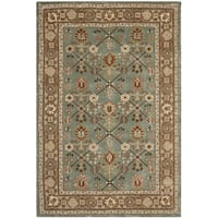 Safavieh Hand-hooked Total Perform Blue/ Taupe Acrylic Rug (3' x 5')