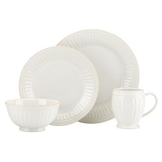Lenox French Perle Groove White-4pc place set