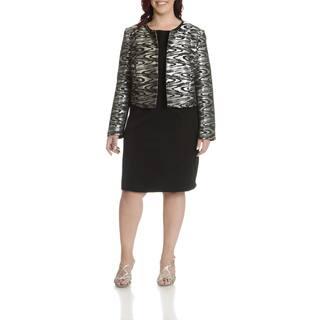 Danillo Women's Plus Size Printed Metallic Dress Suit|https://ak1.ostkcdn.com/images/products/11723774/P18643625.jpg?impolicy=medium