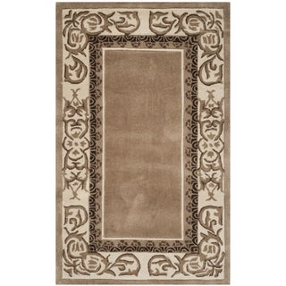 Safavieh Hand-hooked Total Perform Mocha/ Ivory Acrylic Rug (3' x 5')