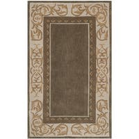 Safavieh Hand-hooked Total Perform Olive/ Ivory Acrylic Rug - 3' x 5'