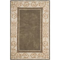 Safavieh Hand-hooked Total Perform Olive/ Ivory Acrylic Rug - 4' x 6'
