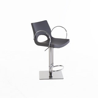 Hans Andersen Pirelli Grey Leatherette Adjustable Bar Stool