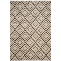 Safavieh Tunisia Cream/ Brown Rug - 3' x 5'
