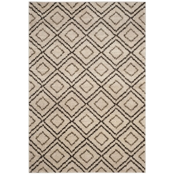 Safavieh Tunisia Cream/ Brown Rug (3' x 5')