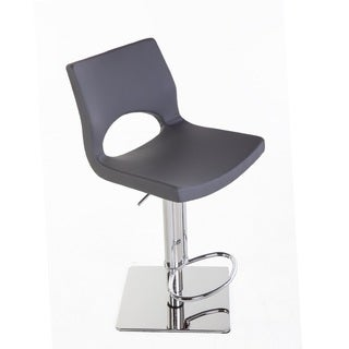 Hans Andersen Barilla Grey Leatheratte Adjustable Bar Stool