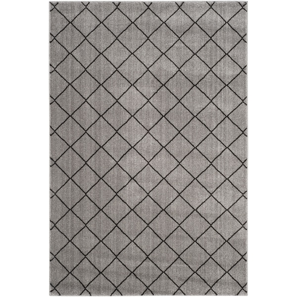 Safavieh Tunisia Grey/ Black Rug (3' x 5')