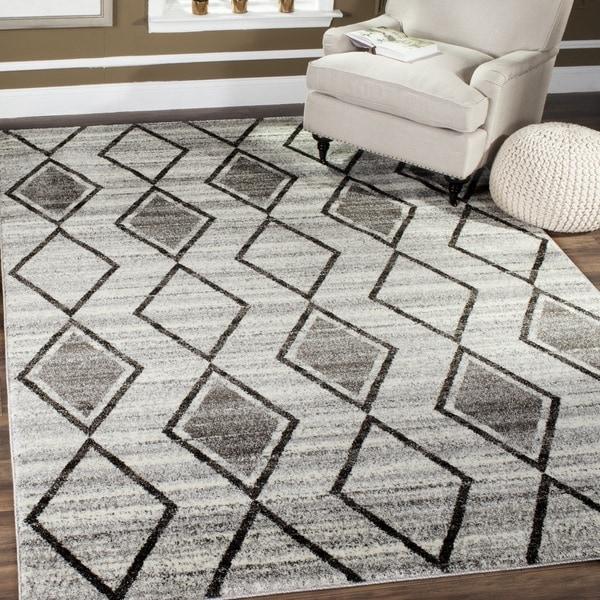 Safavieh Tunisia Grey/ Black Rug (4' x 6')
