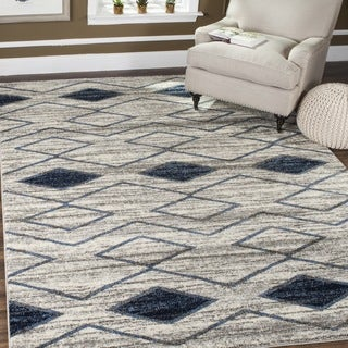Safavieh Tunisia Light Grey/ Blue Rug (3' x 5')
