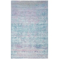 Safavieh Valencia Turquoise/ Multi Overdyed Distressed Silky Polyester Rug - 4' x 6'