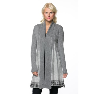 High Secret Women's Knit Printed Open Front Cardigan