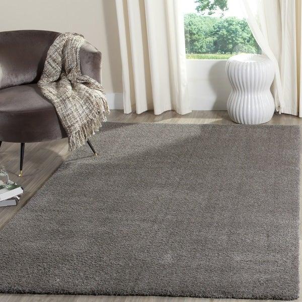 Safavieh Velvet Shag Grey Polyester Rug - 3' x 5'
