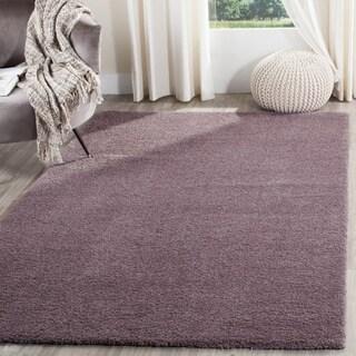 Safavieh Velvet Shag Violet Polyester Rug (3' x 5')