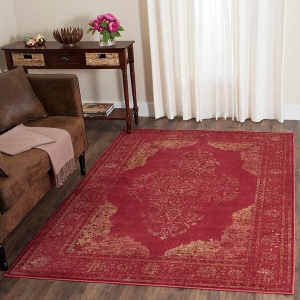 Shop Safavieh Vintage Oriental Turquoise Distressed Silky: Shop Safavieh Vintage Oriental Rose Distressed Silky