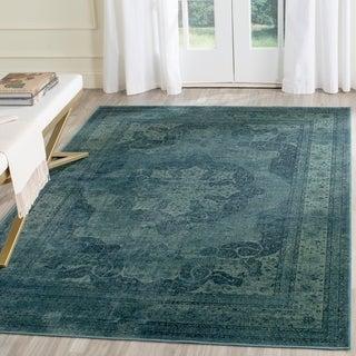 Safavieh Vintage Oriental Blue/ Multi Distressed Silky Viscose Rug (4' x 5' 7)