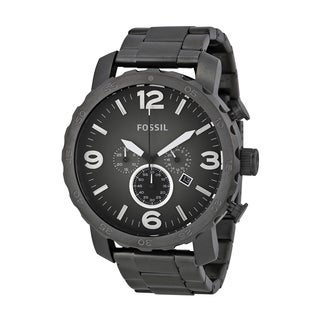 Fossil Men's Smoke Stainless Steel JR1437 Nate Chronograph Watch