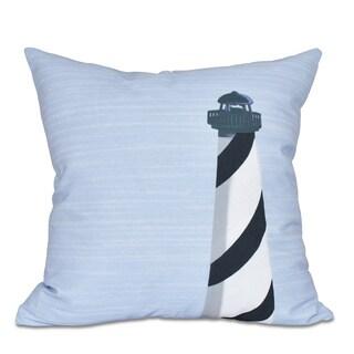 Light House Geometric Print 20 x 20-inch Outdoor Pillow