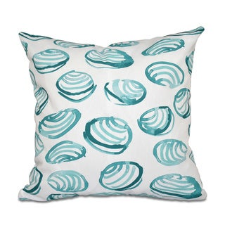 Clams Geometric Print 20 x 20-inch Outdoor Pillow