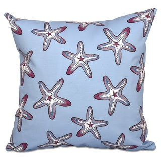 Soft Starfish Geometric Print 20 x 20-inch Outdoor Pillow