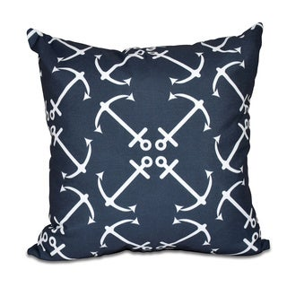 Anchor's Up Geometric Print 20 x 20-inch Outdoor Pillow
