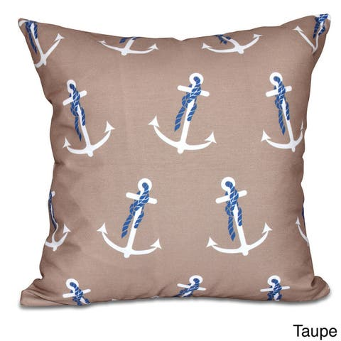 Anchor Whimsy Geometric Print 20 x 20-inch Outdoor Pillow