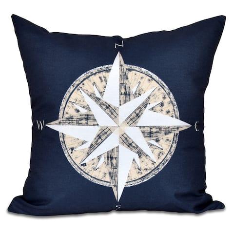 Compass Geometric Print 20 x 20-inch Outdoor Pillow