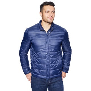 Kenneth Cole Men's Packable Faux Down Hipster Jacket
