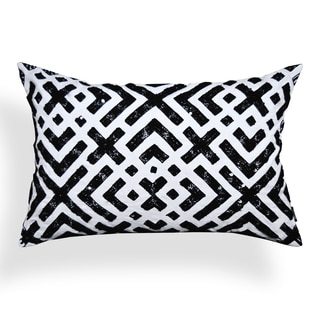 Effie 14 x 20-inch Black-White Sequin Throw Pillow