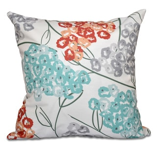 Hydrangeas Floral Print 20 x 20-inch Outdoor Pillow